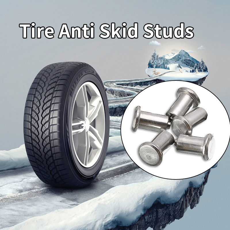 100 Pcs Winter Tire Spikes Car Tires Studs Screw Snow Spikes Anti-Slip Screw Stud Trim For Auto Car Truck Motorcle SUV ATV Truck