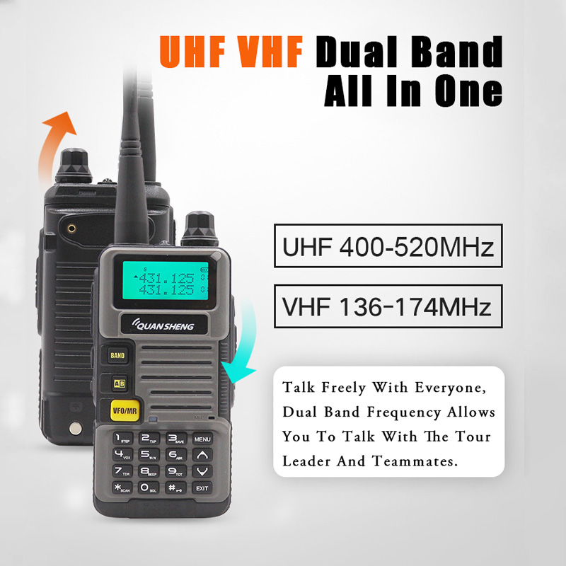 Image 5 - Ham Radio for Hunting UV R50 2 Quansheng 5W Dual Band VHF UHF 136 174Mhz/400 520Mhz Walkie TalkieWalkie Talkie