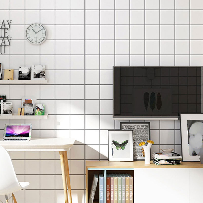 PVC Waterproof Wall Sticker White Self adhesive For Home Decoration 45cm*10m Odorless Stickers