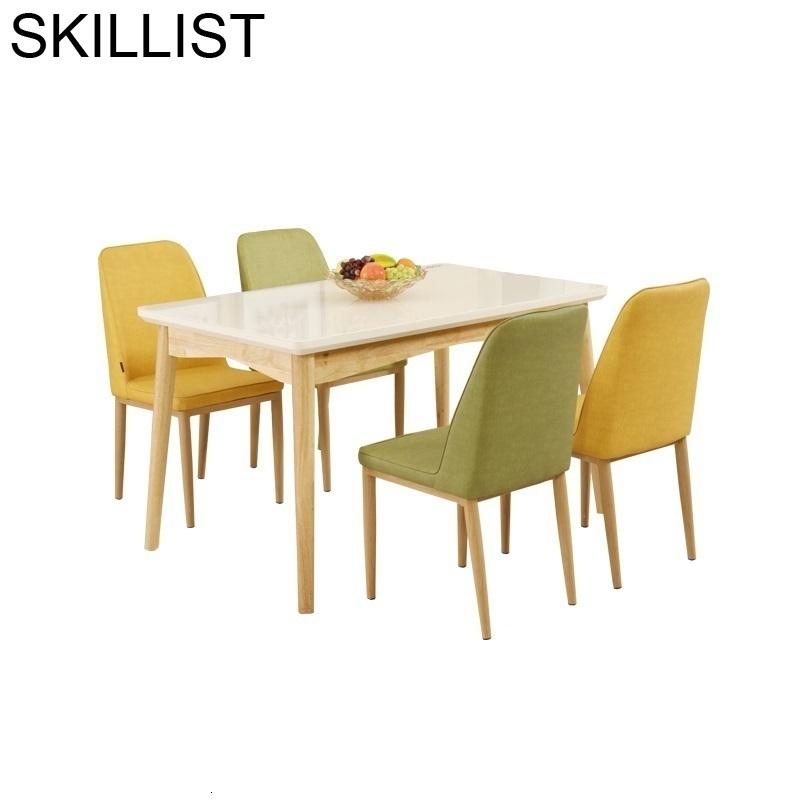 Set Eettafel Sala Kitchen Escrivaninha Juego Comedor Tisch A Langer Retro Wooden Mesa De Jantar Tablo Desk Dining Room Table