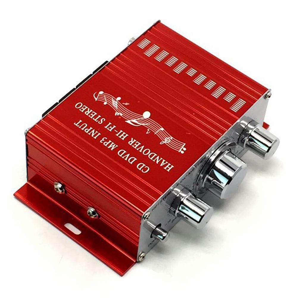 Car Mini Stereo Audio Amplifier Amp Subwoofer HY2001 20W 12V Mini Amplifier Audio Car Amplifier HiFi Amplifier 20-20KHZ Speaker