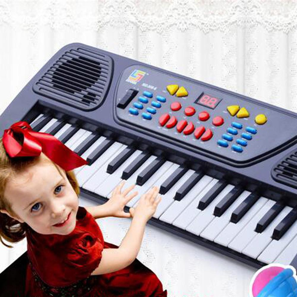 Educational 37 Keys Electronic Organ Digital Piano Keyboard Musical Toy With Mic Kids Toys Stave Music Toy Develop Kids Talents