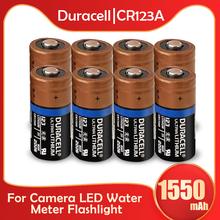 Duracell – batterie Lithium 3V 16340 mah, pour appareil photo, mètre, 1550 sec, 8 pièces, CR123 CR123A CR17345 lampe de poche LED