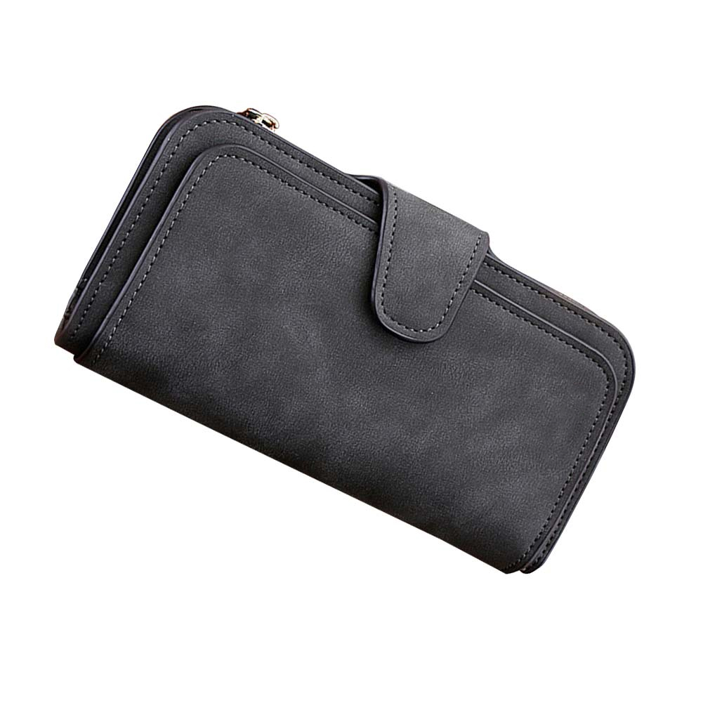 High Capacity Fashion Women Girls Wallets Long Soft PU Leather Wallet Female Zipper Hap Clutch With Coin Bag Ladies Wristlet
