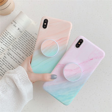 Crenisen Kickstand Finger holder marble cell phone funda coque For Apple iPhone 6s case X xs max XR 8 7 plus 6 cover
