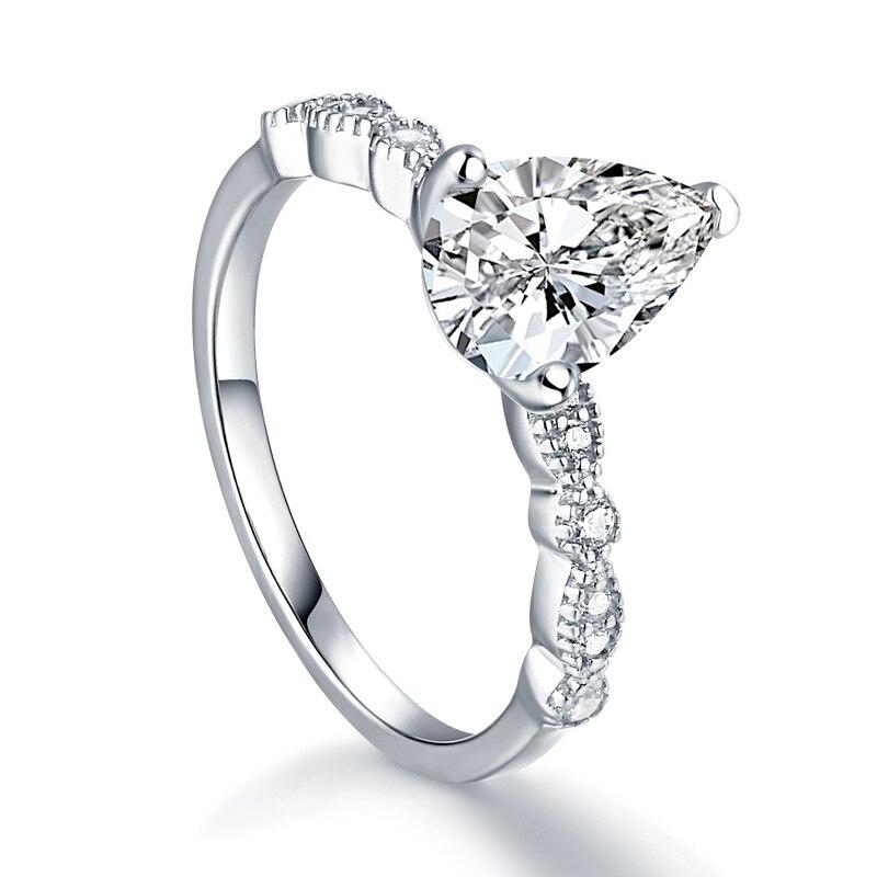 Оптом Серебро 925 Кольцо для женщин Стразы Белый CZ обручальное кольцо