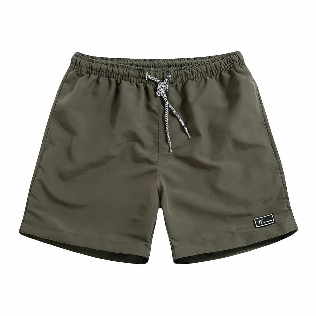 Spodenki ze sznurkiem Plus Size męskie letnie Streetwear Casual szybkie suszenie męskie spodenki sportowe kulturystyka krótkie bermudy Masculina