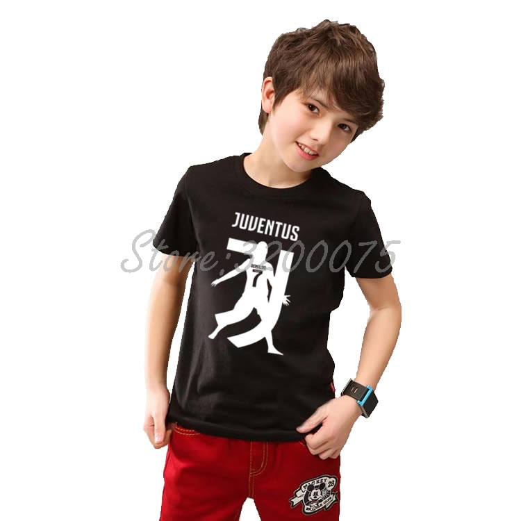 Kids CR7 Cristiano Ronaldo 7 JJ T-shirt Clothes T Shirt Youth Boys Girl Tshirt O-neck Tee W19032802