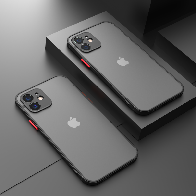 Camera Protection Phone Case For iPhone 11 12 Pro Max Mini XS X XR 6S 7 8 Plus SE 2020 Luxury Transparent Matte Cover Hard Shell