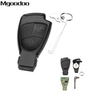 Mgoodoo 2 Button 433.9MHz Complete Remote Control Key 7941 Chip For Mercedes Ben B C E S Class CLS CLK ML SLK Board With Blade