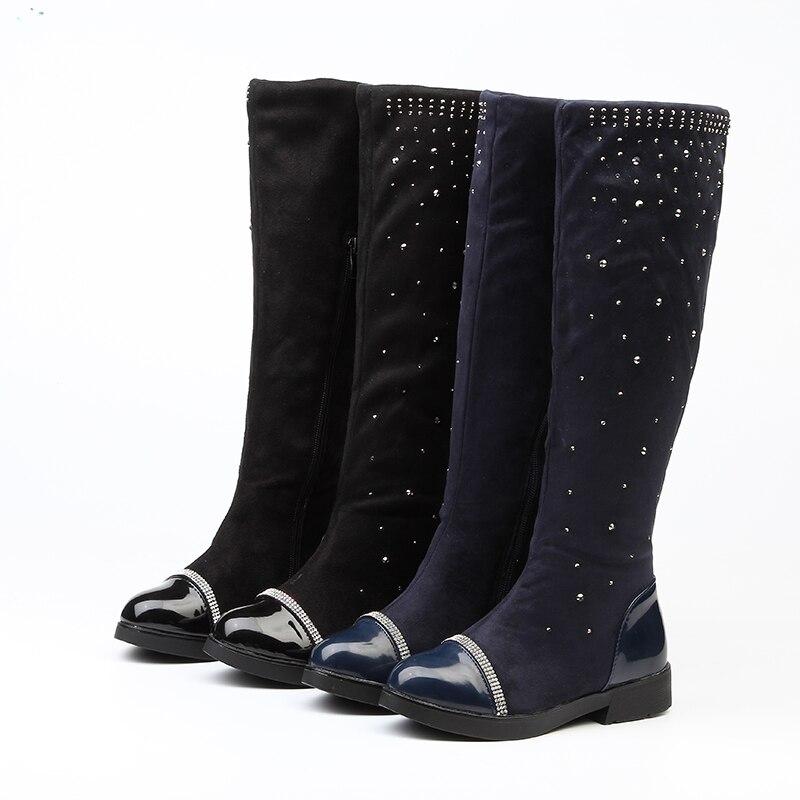 Girls Boots Parent-child Shoes Princess Elegant Rhinestone Girl High-leg Boots Children's Snow  Botas Ever After High Boots