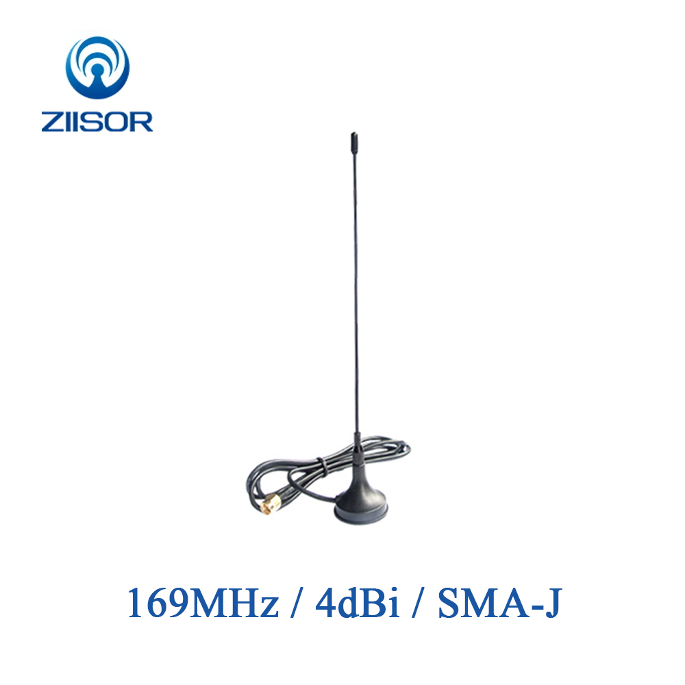 169MHz Magnetic Base Antenna SMA Male High Gain Omni Antena Wireless Module Data Transmission Outdoor Aerial Z33 B169SJ20-in Communications Antennas from Cellphones & Telecommunications