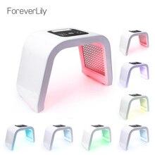 פרו 7 צבע PDT LED פנים מסכת אור תרפים הידוק מכונה התחדשות עור פוטון מכשיר ספא טיפוח עור כלים