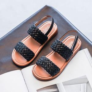 Плетеная детская обувь, сандалии для маленьких девочек, 2020, новые летние туфли принцессы для больших детей 1, 2, 3, 4, 5, 6, 7, 8, 9, 10, 11, 12 лет