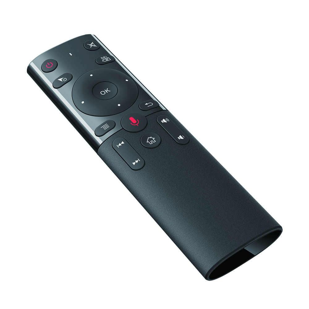 2.4G sans fil Google voix télécommande souris d'air avec IR apprentissage Microphone Gyroscope pour Android TV Box X96 HK1 H96 Max