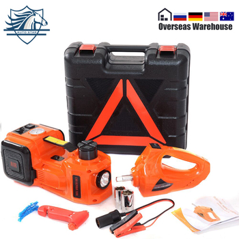 цена на 5Ton Car Jack Electric Hydraulic Jack Protable Tire  Lifting Repair Tool Jack Electric Wrench Impact Socket Wrench Tire Inflator