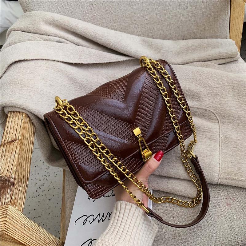 Women Handbag Autumn And Winter 2019 New Famous Luxury Designer Brand Messenger Messenger Bag Fashion Chain Small Square Bag