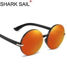 SHARK SAIL Retro Round Sunglasses Women Men Brand Design Female Sun Glasses Men Oculos De Sol Feminino Lunette Soleil Eyewear стоимость