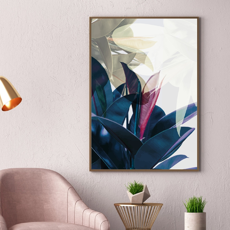 Abstract Watercolor Leaves Art Prints