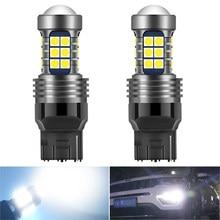 2X 7440 T20 LED błąd Canbus bezpłatne światła do jazdy dziennej lampa DRL dla VW Volkswagen Passat B6 B5 B7 Scirocco Golf 5 4 mk7 t5 Polo