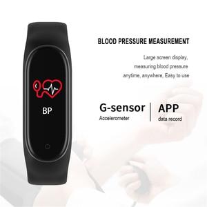 Image 2 - M4 Bracelet intelligent Fitness activité Tracker moniteur de fréquence cardiaque Tracker pression artérielle Bracelet appel Message rappel bande