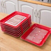 Лоток для хранения пищевых продуктов, многоразовый сервировочный поднос для сохранения свежести продуктов в холодильнике, кухонный Органа...