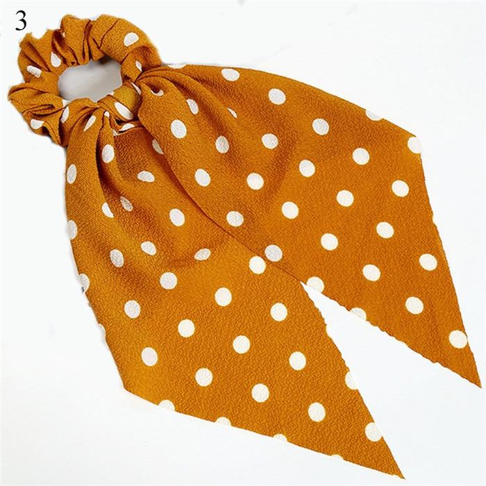 Богемные резинки для волос в горошек с цветочным принтом и бантом, женские эластичные резинки для волос, повязка-шарф, резинки для волос, аксессуары для волос для девочек - Цвет: New 3