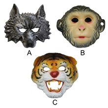 Halloween Masquerade Cosplay Mask Animal Party Show Wolf Bar Horror Monkey Tiger