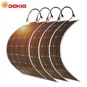 Image 1 - Dokio 400ワット柔軟な単結晶ソーラーパネルキットホーム & rv & ボート柔軟なソーラーパネル中国ドロップ無料