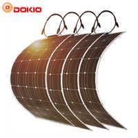 Dokio-Panel Solar monocristalino Flexible, 400w, para casa, RV y barco, envío directo desde China
