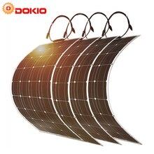Dokio Linh Hoạt 400W Monocrystalline Lượng Mặt Trời Bộ Cho Gia Đình & RV & Thuyền Tấm Pin Mặt Trời Linh Hoạt Trung Quốc Thả Vận Chuyển
