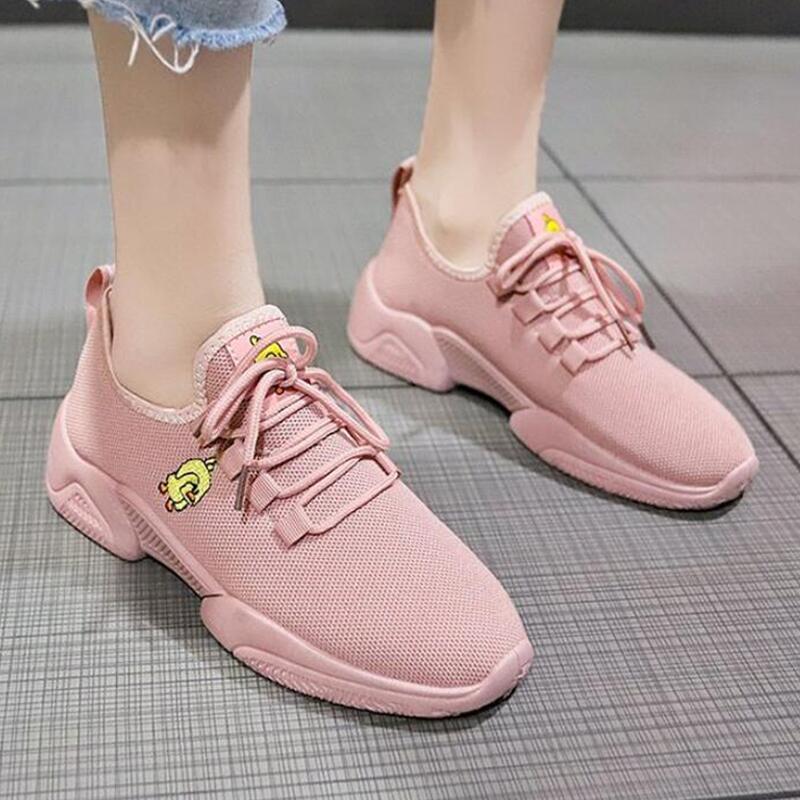 Модные белые кроссовки; Женская Вулканизированная обувь; сезон лето; женская спортивная обувь из сетчатого материала; Весенняя