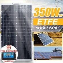 ETFE שמש פנל 350W 18V שמש כוח בנק סוללה LED אור מטען מערכת 18V פנל סולארי קיט מלא עבור חיצוני קמפינג ואן