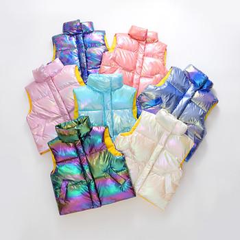 Kamizelki dziecięce bluzy ciepłe kurtki odzież wierzchnia dziewczęca dla niemowląt płaszcze dziecięce kamizelki chłopięce z kapturem kurtki jesienne zimowe zagęścić kamizelki tanie i dobre opinie COTTON POLIESTER NYLON CN (pochodzenie) Unisex Z dekoltem turtleneck moda Kurtki płaszcze AH1202-Q Dobrze pasuje do rozmiaru wybierz swój normalny rozmiar
