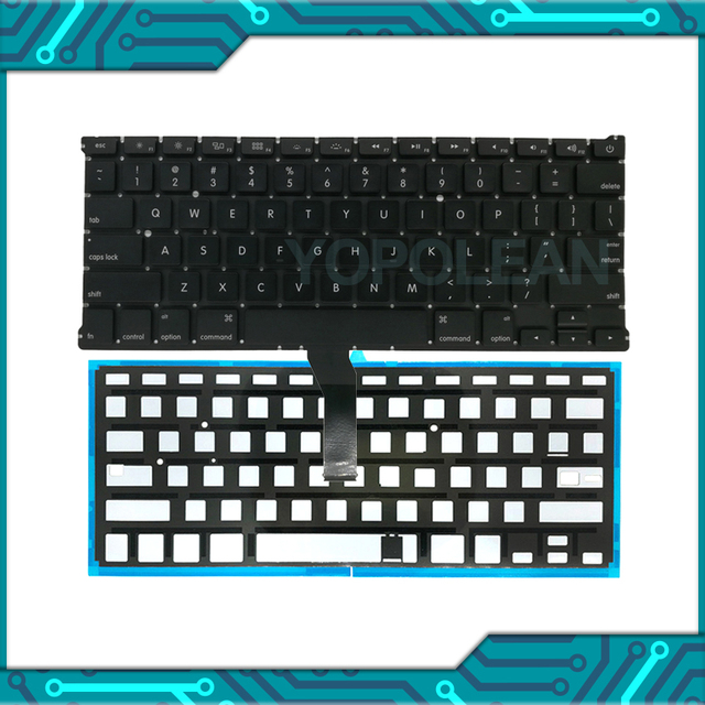 "New For Macbook Air 13"" A1466 A1369 US English Keyboard With Backlight 2011 2017 Years"