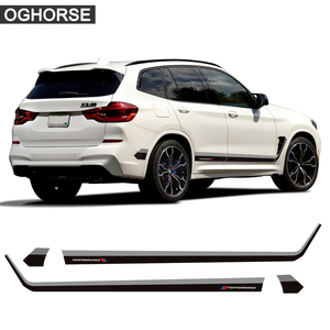2 Pcs Car Door Side Stripes Skirt Sticker M Performance Body Decal For BMW X3 M G01 F25 Accessories Car Styling