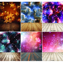 Vinyl Custom Photography Backdrops Prop  Space Starry Sky and floor Theme Background FA20419-10