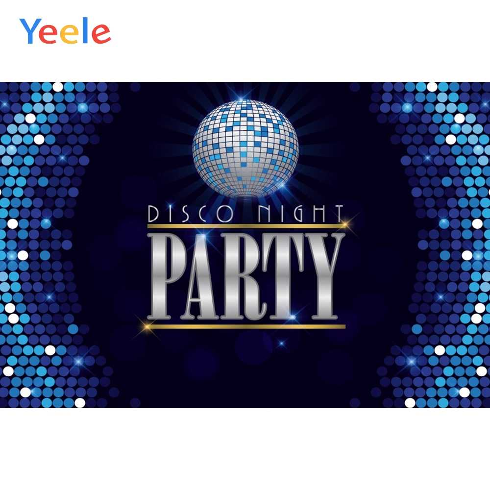 Yeele 10x8ft Disco Dance Party Backdrop for Photography Neon Adults Party Decoration Neon Lights Bright Ballroom Colored Floor Tiles Stage Background Party Event Photo Booth Shoot Studio Props