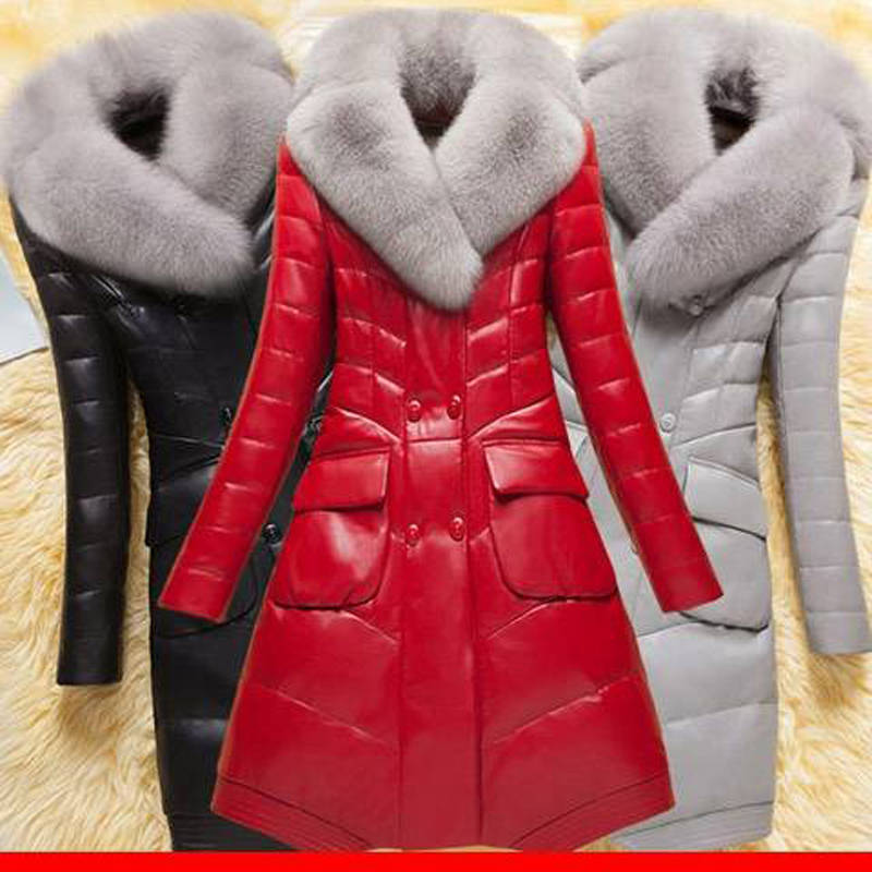 Fur Coat Women Winter Female Sheepskin Coats High Quality Fashion Faux Fur Pure Color Thick Fox Collars Overcoat Plus Size