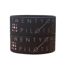 1 шт., широкий разноцветный логотип Twenty One Pilots, силиконовый браслет для музыкального браслета