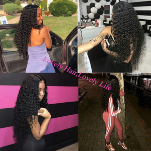 Image 2 - Queenlike 髪製品 3 4 個人間の髪のバンドル閉鎖非レミー織りブラジルでバンドル閉鎖