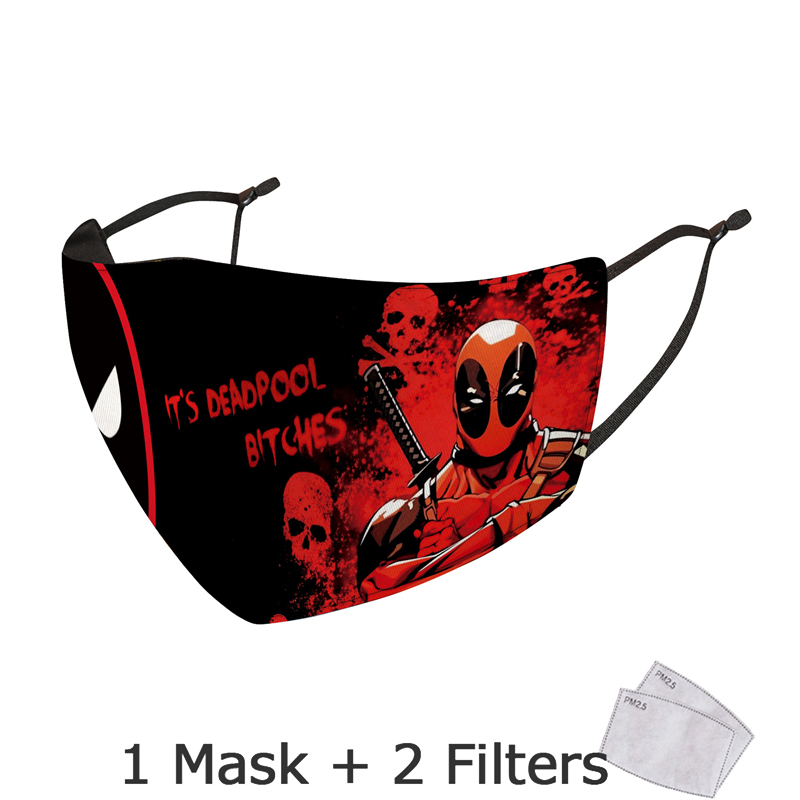 Disney Marvel Superhero Spiderman Mask With Filter Adult Anti Dust PM2.5 Windproof Reusable Mouth Mask Washable mascarillas 6