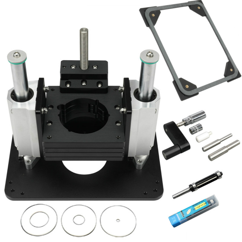 New Heavy Duty Router Lift With Aluminium Router Insert Plate Woodworking Tools GF27