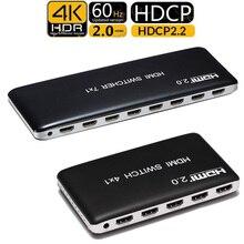 4K 60HZ HDMI Schalter 7x1 4x1 3x1 HDMI 2,0 Switcher Audio Video konverter für PS3 PS4 XBOX DVD PC Zu TV HDTV Monitor oder Projektor