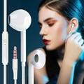 Проводные стереонаушники-вкладыши с басами, 3,5 мм, спортивные наушники для смартфонов, проводная гарнитура со встроенным микрофоном, наушни...