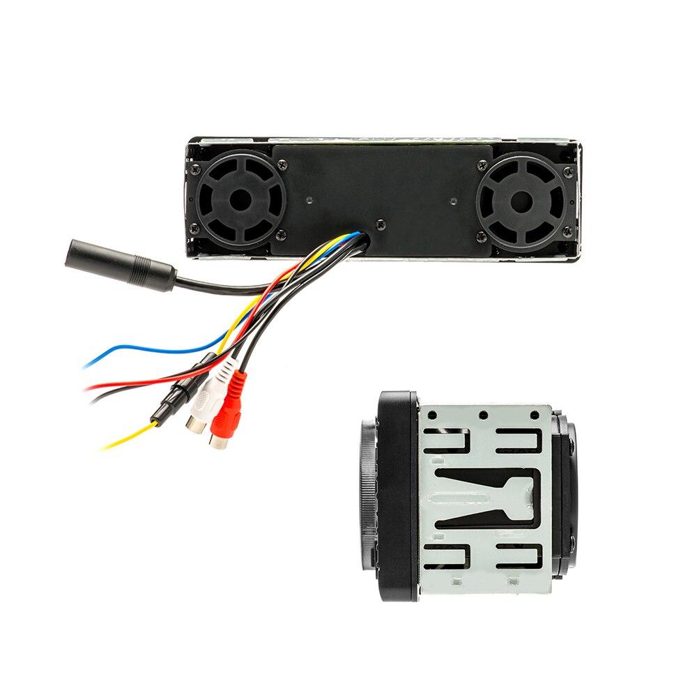 Podofo 1din radio samochodowe uniwersalne 12V FM MP3 Bluetooth Autoradio połączenie głośnomówiące Auto z głośnikiem w desce rozdzielczej 1 samochodowy odtwarzacz Stereo DIN