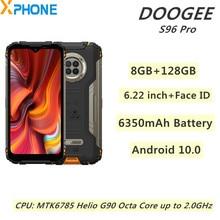 Doogee s96 pro áspero telefone 48mp redondo quad câmera 8gb 128gb 6350mah 6.22 polegada android 10.0 helio g90 octa núcleo 4g rede