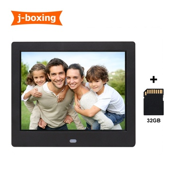 8inch Multi- Media Digital Photo Display 8'' TFT LCD Digital Picture Frame Auto Slideshow, Plug and Play with 32GB TF Card 5mp cmos gps professional car black box w 8x digital zoom hdmi av out tf 2 36 tft lcd