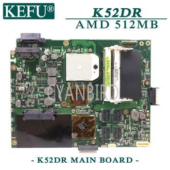 KEFU K52DR original mainboard for ASUS K52DR A52DE K52DE A52DR K52D with AMD 512MB video card Laptop motherboard