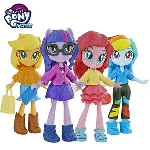 My Little Pony Equestria, красивые куклы игрушки для девочек, Твайлайт, блеск радуги, тире, пинки, пирог, фигурки, подарок для детей